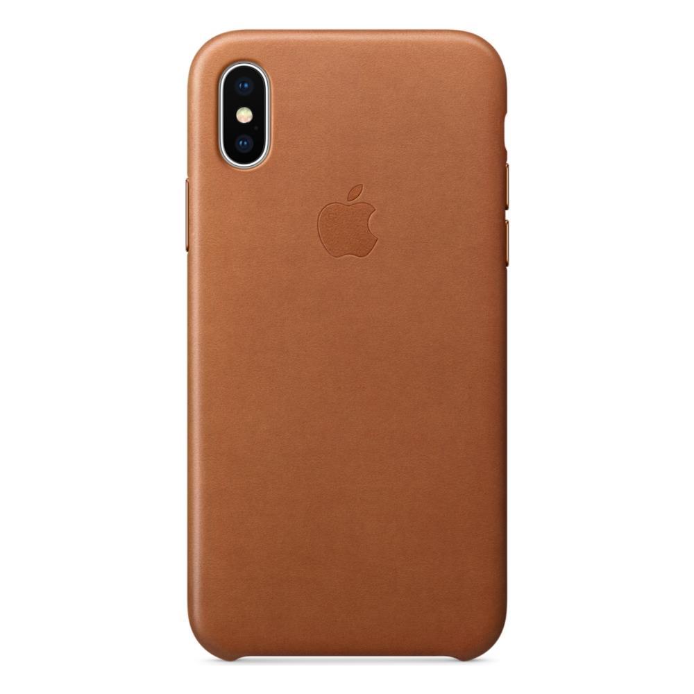 molto carino 8de63 8494b APPLE Cover in Pelle per iPhone X Colore Cuoio