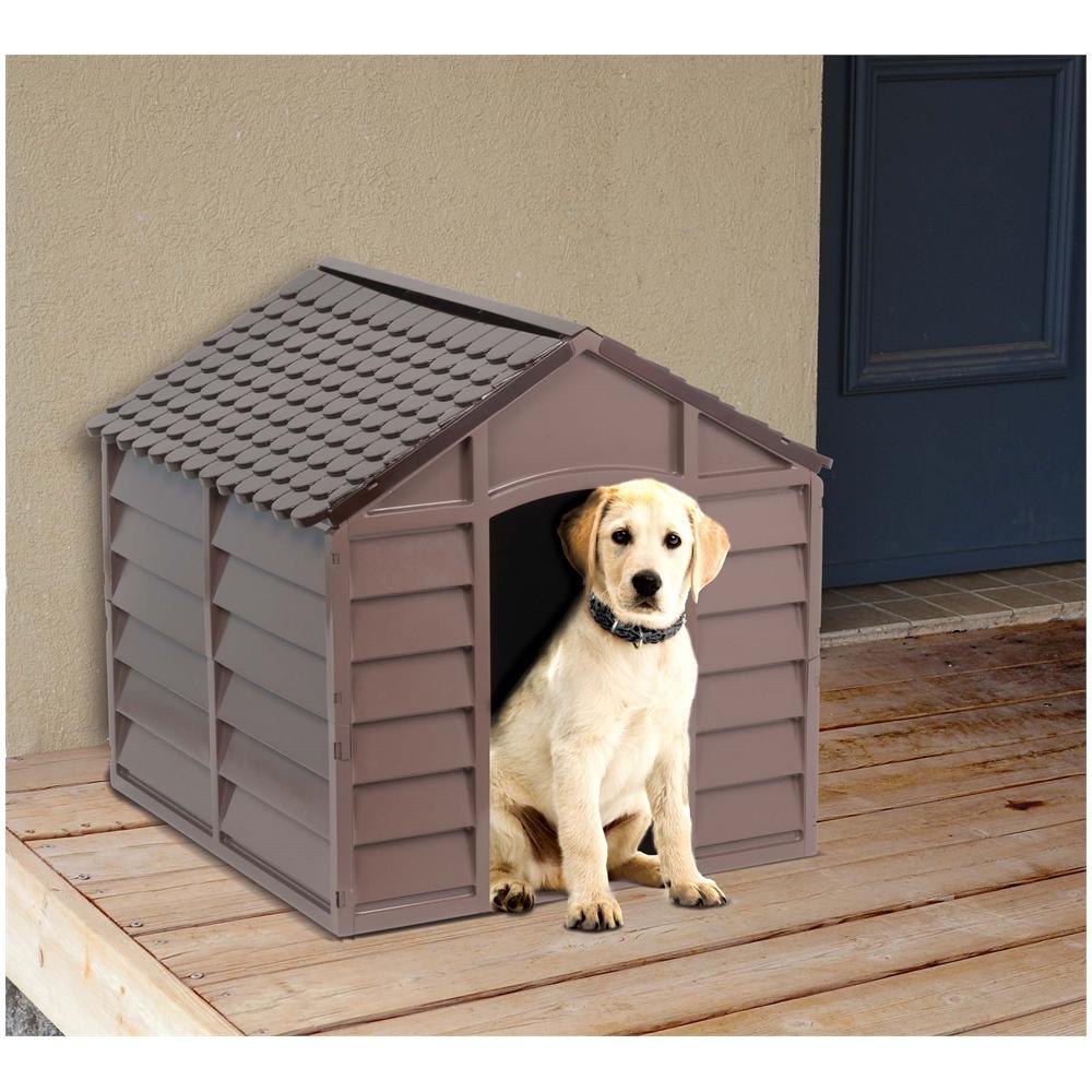 Cucce Per Cani Da Esterno In Plastica.Ac Cuccia Per Cani Taglia Media In Resina Pvc Smontabile Tetto