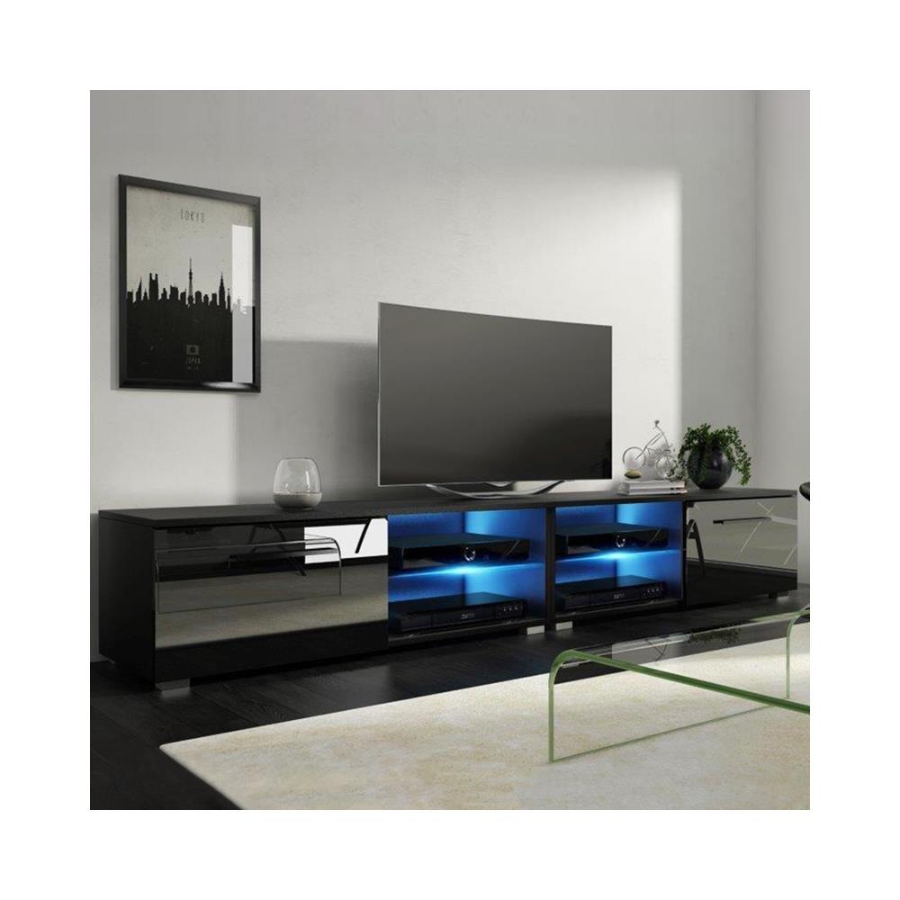 Mobile Moderno Per Tv.Selsey Tenus Double Mobile Tv Lucido Mobiletto Porta Tv