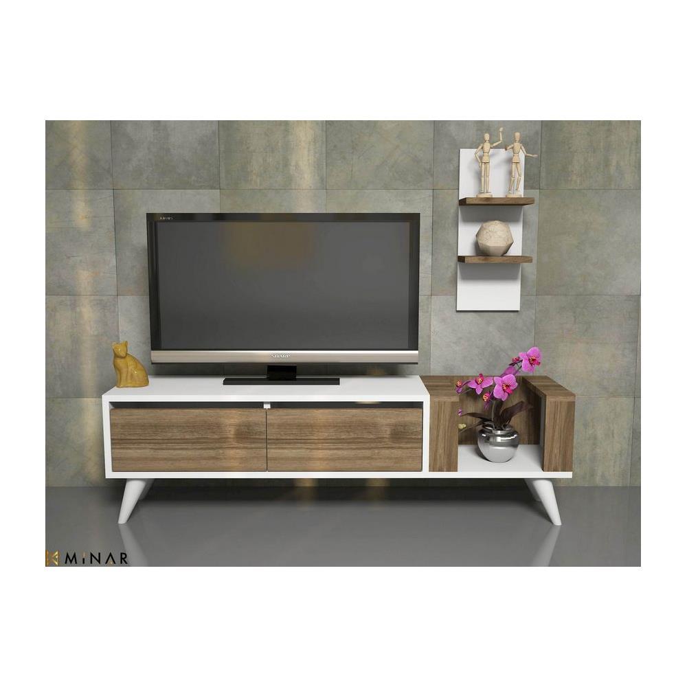 Porta Mensole In Legno.Homemania Mobile Porta Tv Pers Moderno Con Ante Mensole