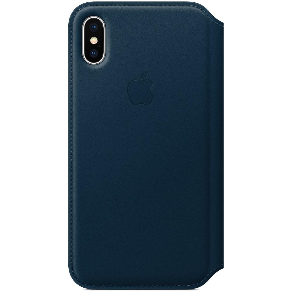 custodia in pelle per iphone x