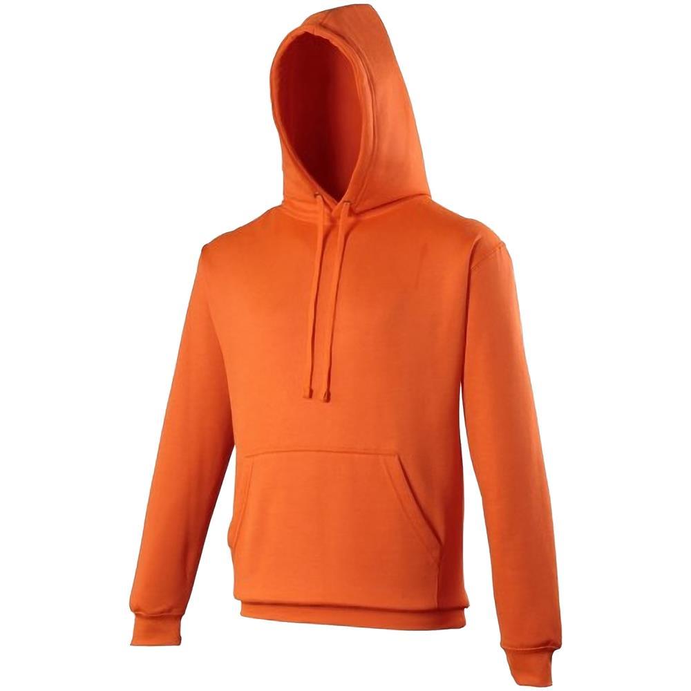 Uomo arancio Con m Felpa Awdis Fluo Cappuccio Elettrico Colori F4OXxZ0w