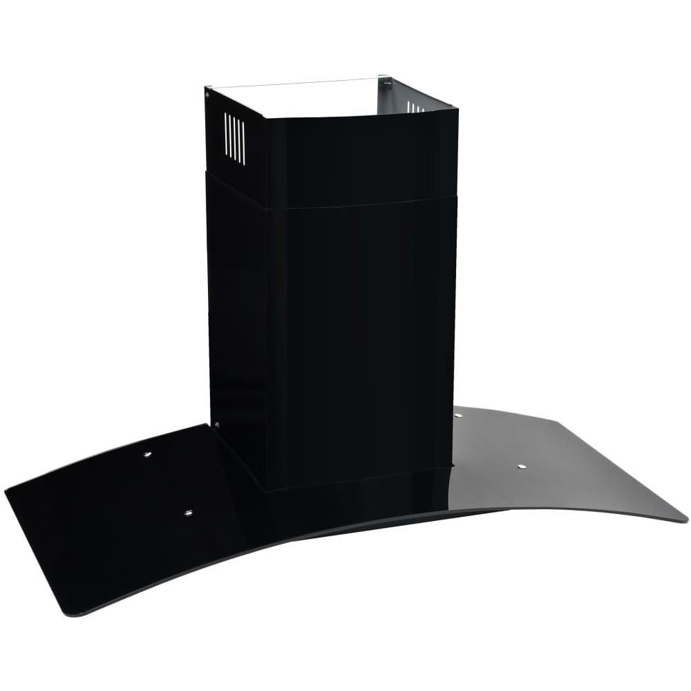 50706 vidaXL Cappa Aspirante a Muro Acciaio Inox 756 m³//h 90 cm Nera