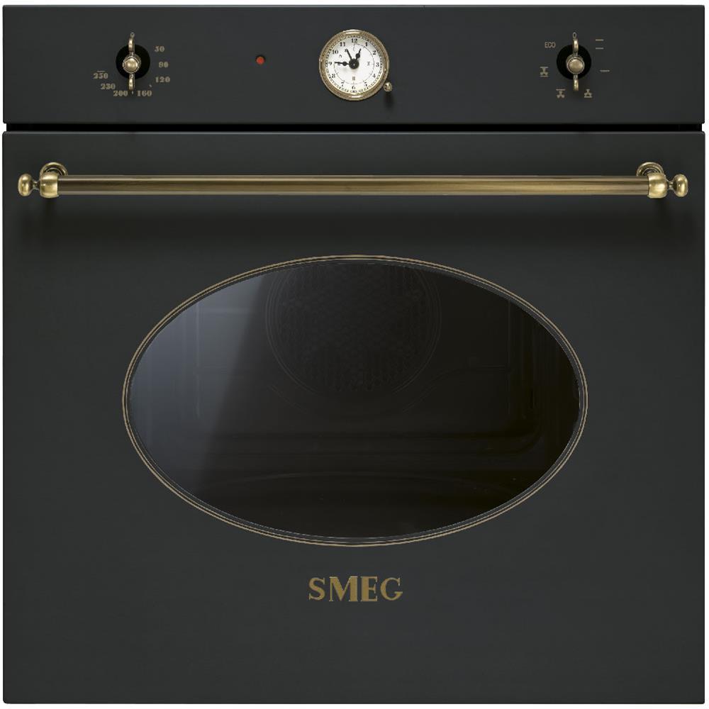 SMEG Forno Elettrico da Incasso Coloniale SF800AO Capacità 70 L  Multifunzione Ventilato Potenza 3000 W Colore Antracite