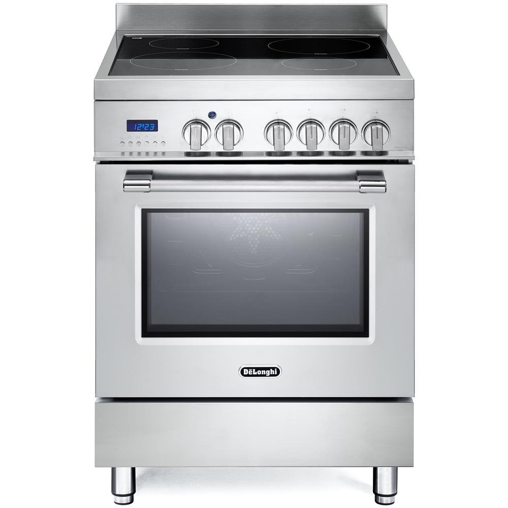 DE LONGHI - Cucina Elettrica PRO 66 MX 4 Zone Cottura a Gas Forno ...