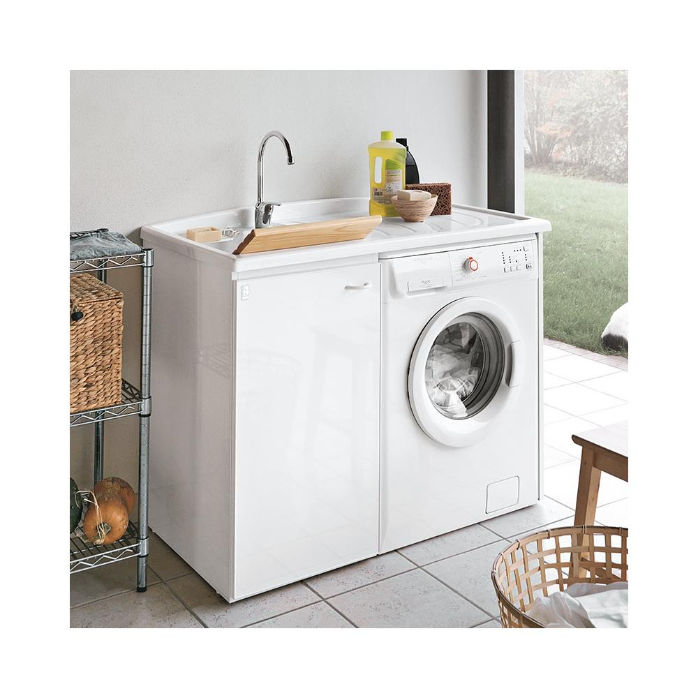 Mobile Proteggi Lavatrice Da Esterno geromin lavatoio con mobile e porta lavatrice, collezione forte art.  7009fortedb - 110 cm a magazzino