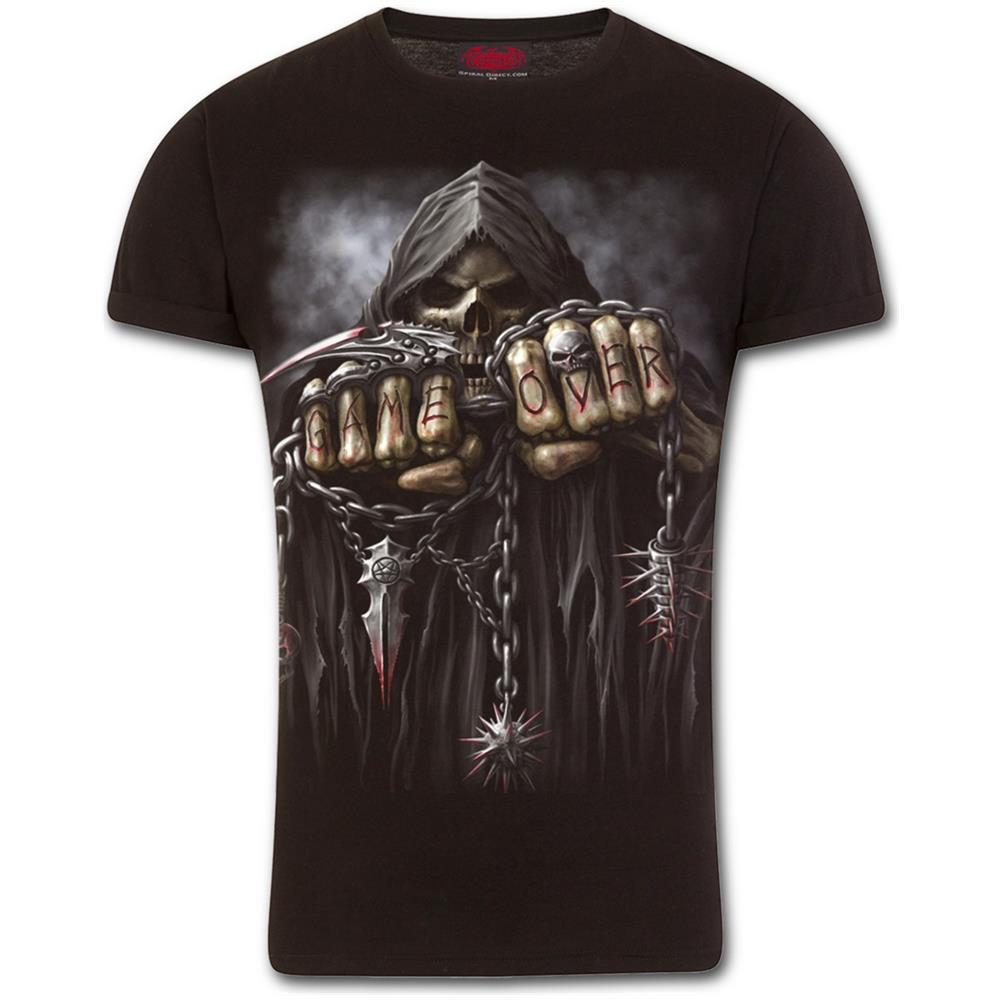 - Game Over - Modern Cut Turnup Sleeve Black (T-Shirt Unisex Tg. 2Xl)