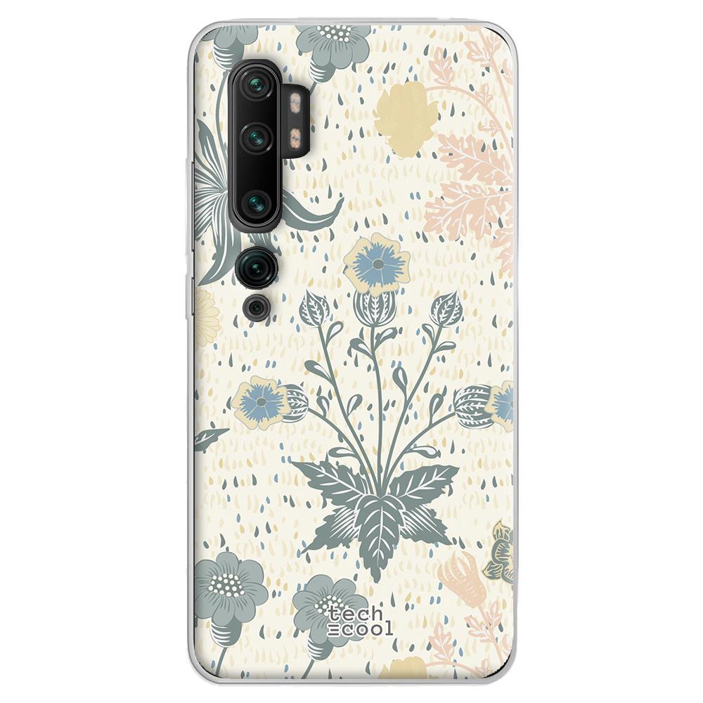 Techcool Cover, Custodia Per Huawei P40 Lite L Silicone Fiori Trama Pastello View. 3