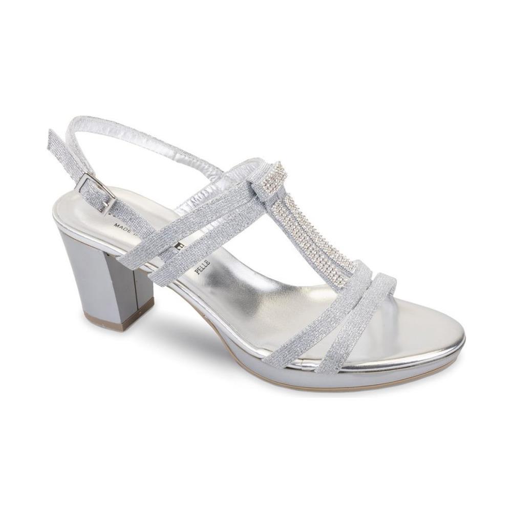 4b1d1da6d515d7 VALLEVERDE - 38531 Sandalo Scarpe Tacco Pelle Donna Argento Strass Grigio  37 - ePRICE
