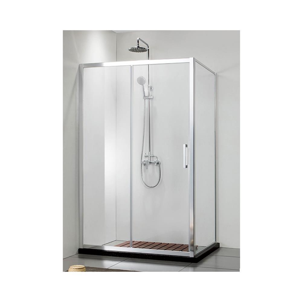 Cabina Doccia 70 X 110.Expotrio Shower Box Doccia Angolare Cristallo Trasparente 6 Mm Alluminio Scorrevole 70x110