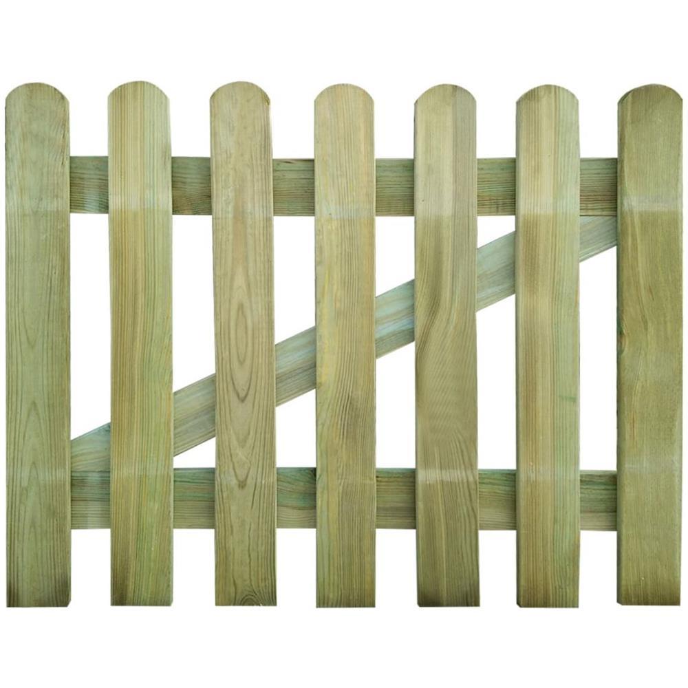 Vidaxl Cancello In Legno Per Giardino 100 X 80 Cm Eprice