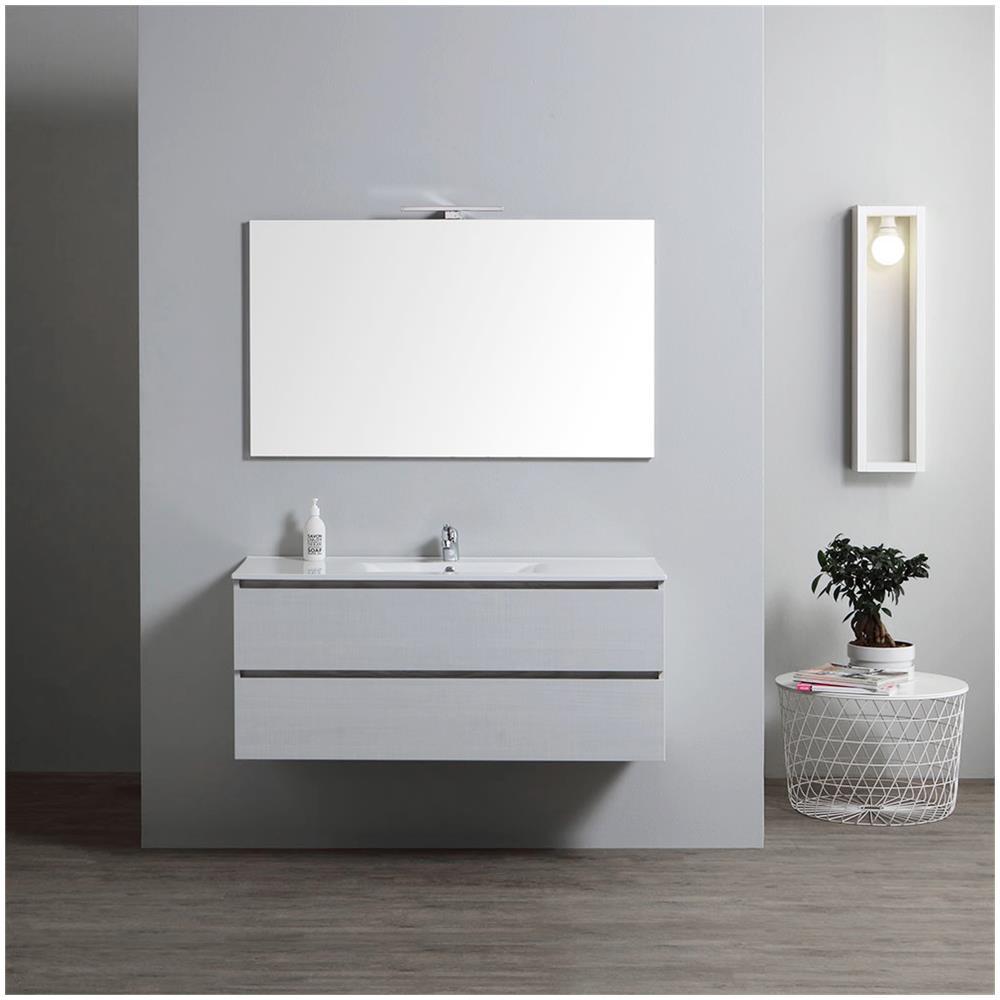 Lavello Bagno Con Mobile.Kiamami Valentina Mobile Bagno Con Lavabo Integrato 120 Cm Con Specchio Serie Berlin
