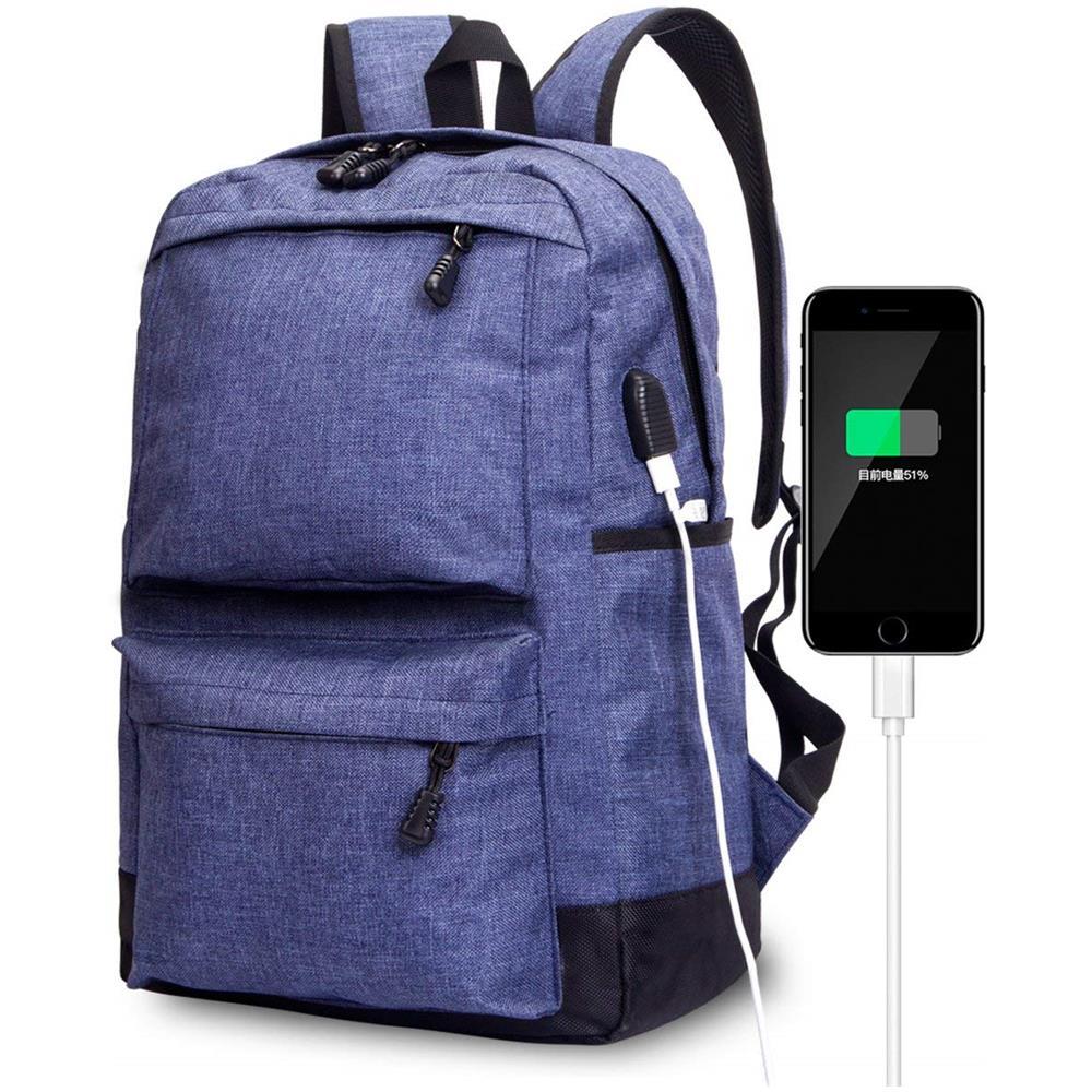 01ed92f29705be FOLUR - Zaino Per Laptop 15.6 Pollici - Porta Usb - Zaino Università Scuola  Superiore Lavoro Blu - ePRICE