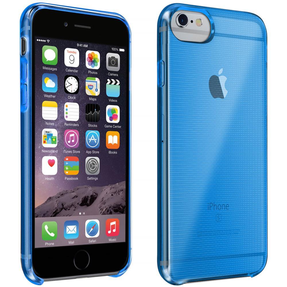Avizar Cover Apple Iphone 6 / 6s / 7 / 8 Silicone Semirigido Resistente Blu Traslucido