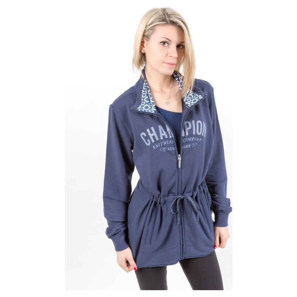 buy popular 7eb05 b9502 Champion - Felpa Donna Full Zip Blu Xxxl - ePRICE