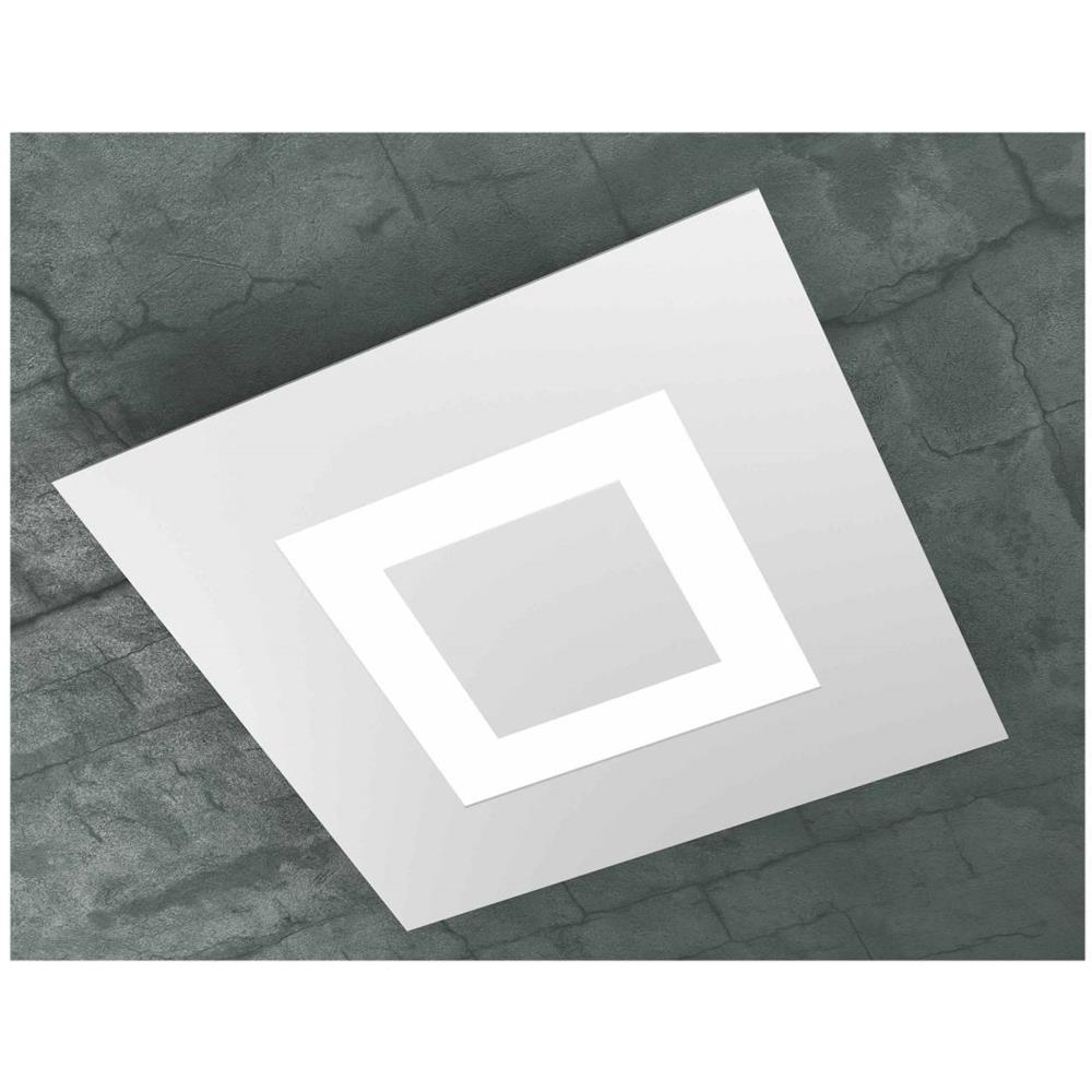 Plafoniere X Bagno.Top Light Plafoniera Led Lampada Da Soffitto In Metallo Bianco Da Bagno Misure Lato 39 X 39 Cm Altezza Cm 5