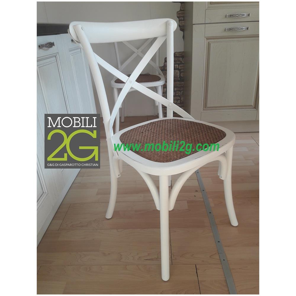 4 Sedie In Legno.Mobili 2g Set 4 Sedie In Legno Colorato Effetto Bianco Invecchiato Arredamento Shabby Vintage Classico