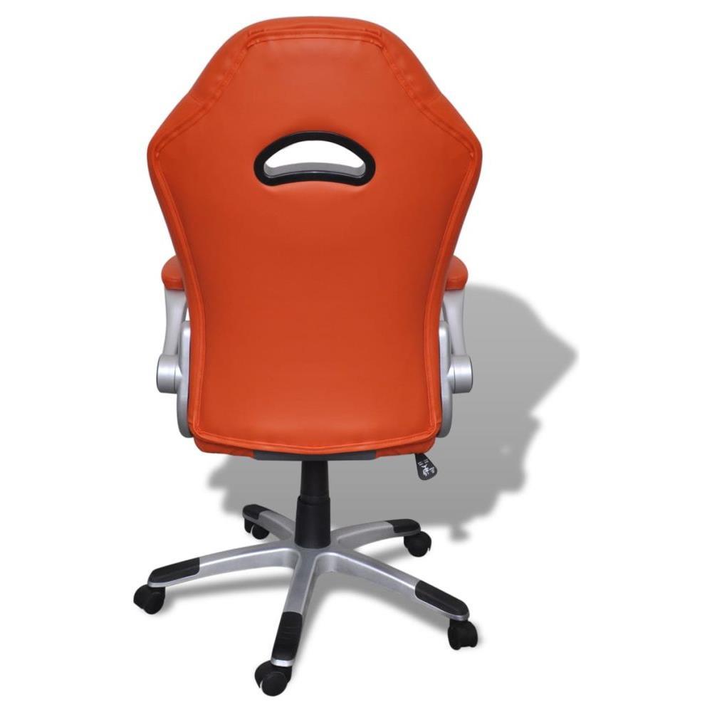 vidaXL Sedia Ufficio In Pelle Design Moderno Arancione