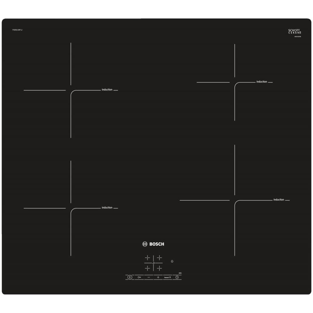 BOSCH - Piano Cottura PUE611BF1J a Induzione 4 Zone Cottura da 60 cm ...