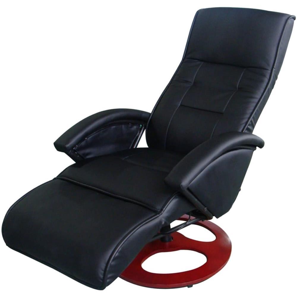 Poltrone Relax Massaggio Prezzi.Vidaxl Poltrona Relax Massaggio Lusso Isa Reclinabile Nera