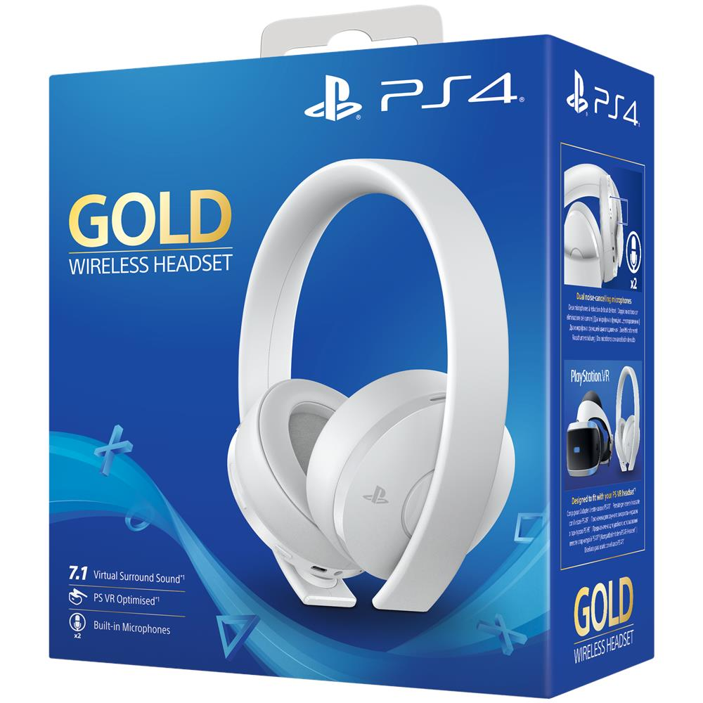 PS4 Gold Wireless Headset - White Edition