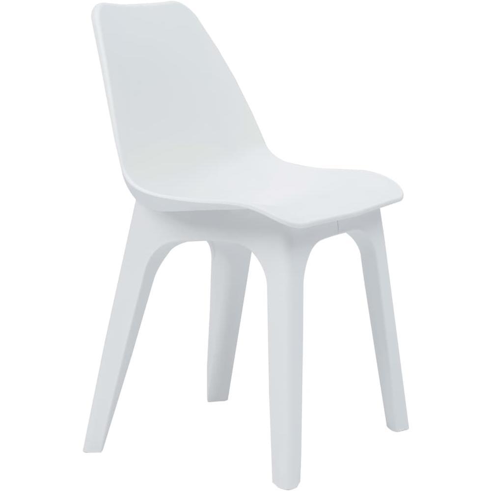Sedie Da Giardino Bianche.Vidaxl Sedie Da Giardino 2 Pz In Plastica Bianche Eprice