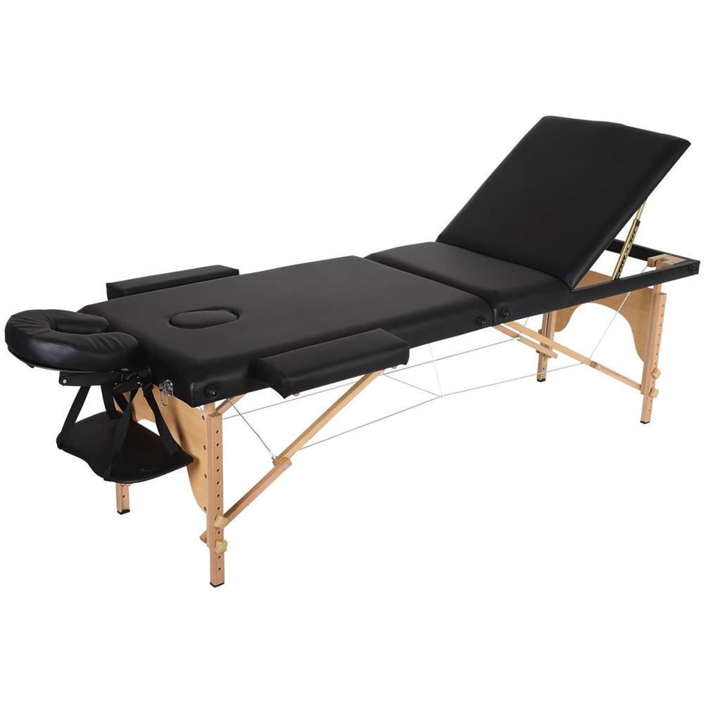 Lettino Da Massaggio Pieghevole.Habitat Et Jardin Lettino Da Massaggio Pieghevole Puerto Rico 3 Zone 212 X 80 X 60 83 Cm Nero