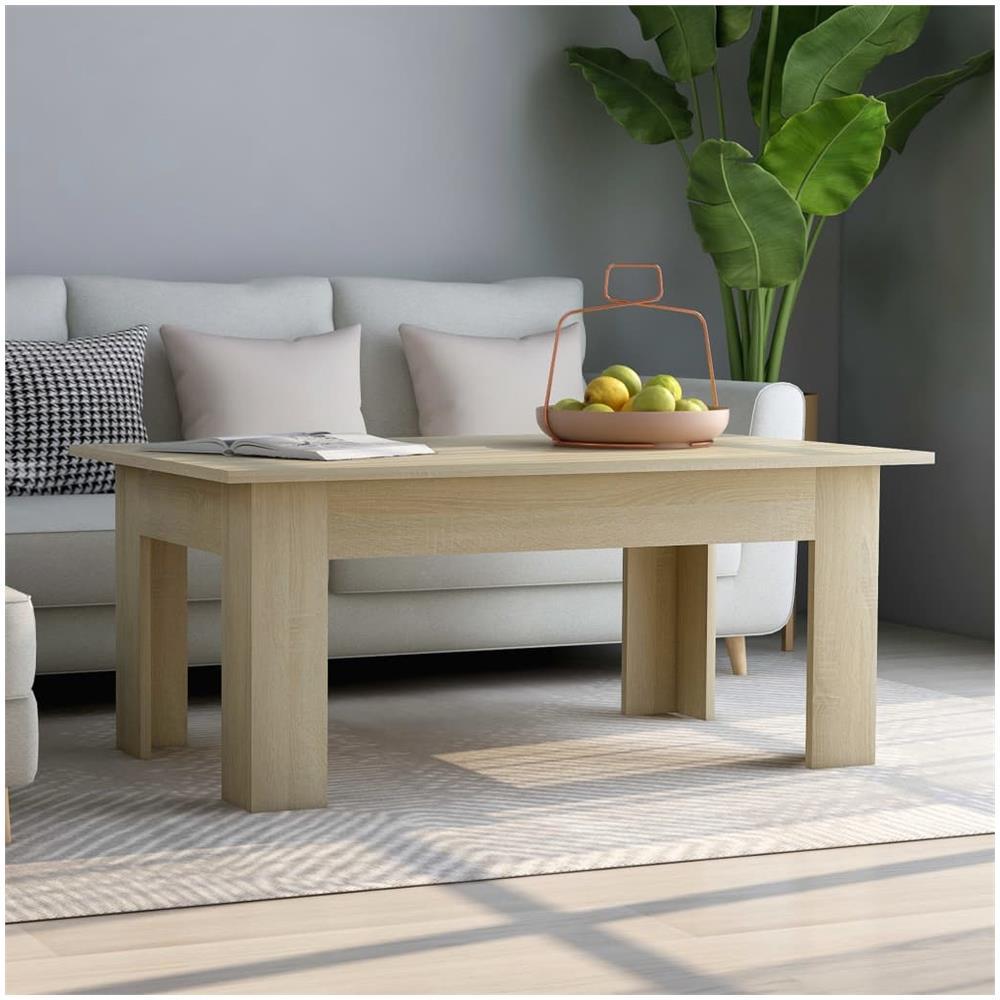 SKM Tavolino da Caff/è Rovere Sonoma 100x60x42 cm in Truciolato B