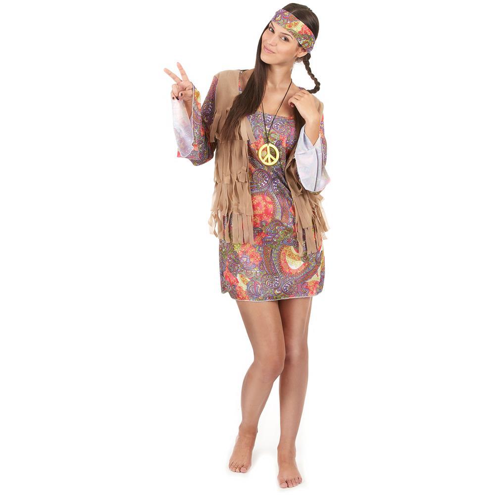 1f695c3702db JADEO - Costume Da Hippy Per Donna Taglia Unica - ePRICE