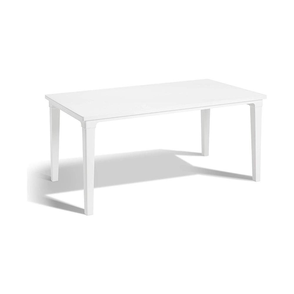 Tavoli Da Giardino Per Esterno.Keter Tavolo Da Giardino 6 Posti Per Esterno Bianco Effetto