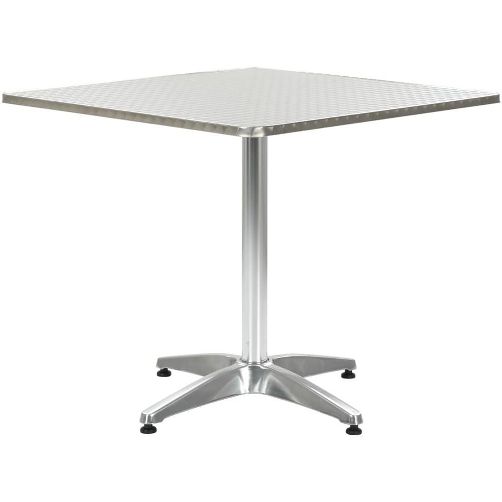 Tavoli Da Giardino In Alluminio.Vidaxl Tavolo Da Giardino Argento 80x80x70 Cm In Alluminio Eprice