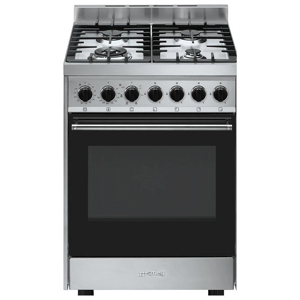 SMEG - Cucina a Gas B60GMXI9 4 Fuochi Forno Elettrico Dimensioni 60 ...