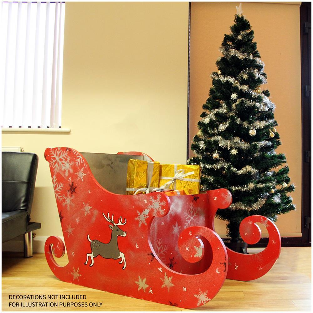 Slitta Di Babbo Natale Fai Da Te.Monstershop Slitta Di Babbo Natale Per Natale 120cm Semplice Senza