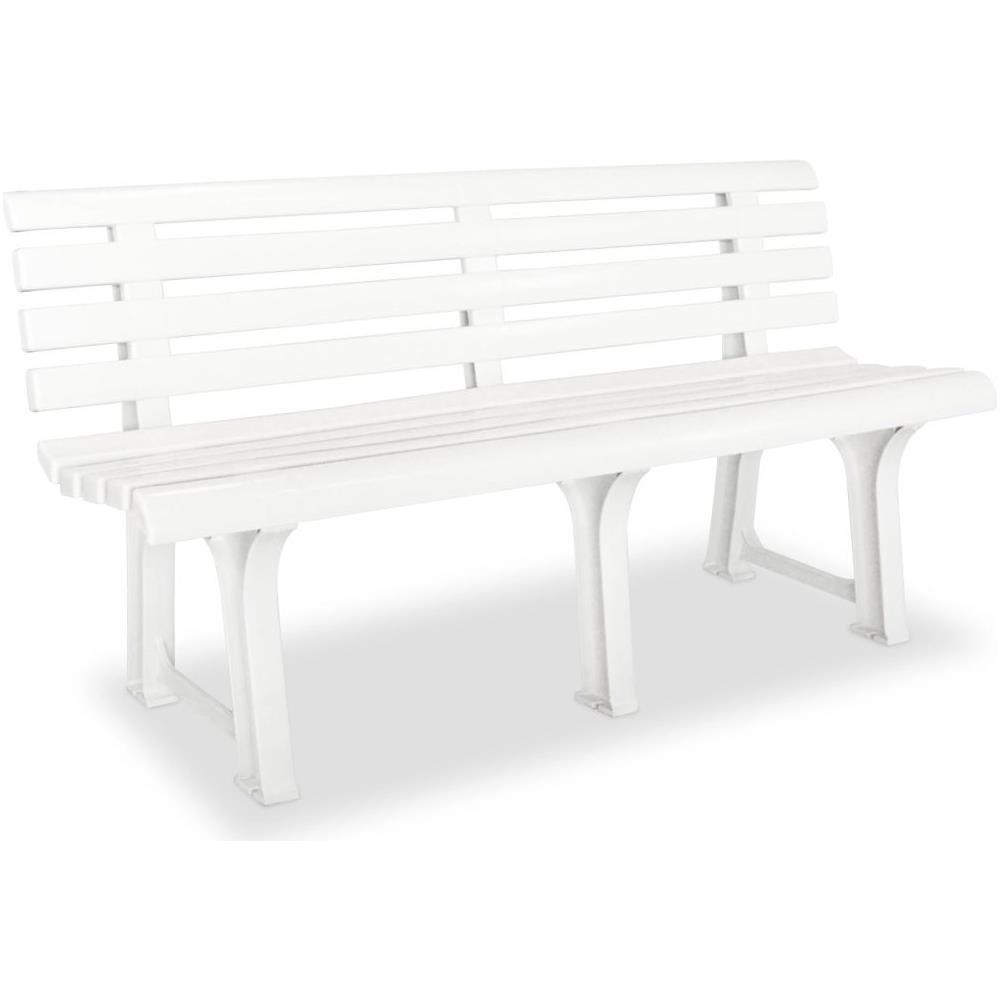 Panchine Plastica Da Giardino.Vidaxl Panchina Da Giardino In Plastica 145 5x49x74 Cm Bianco Eprice