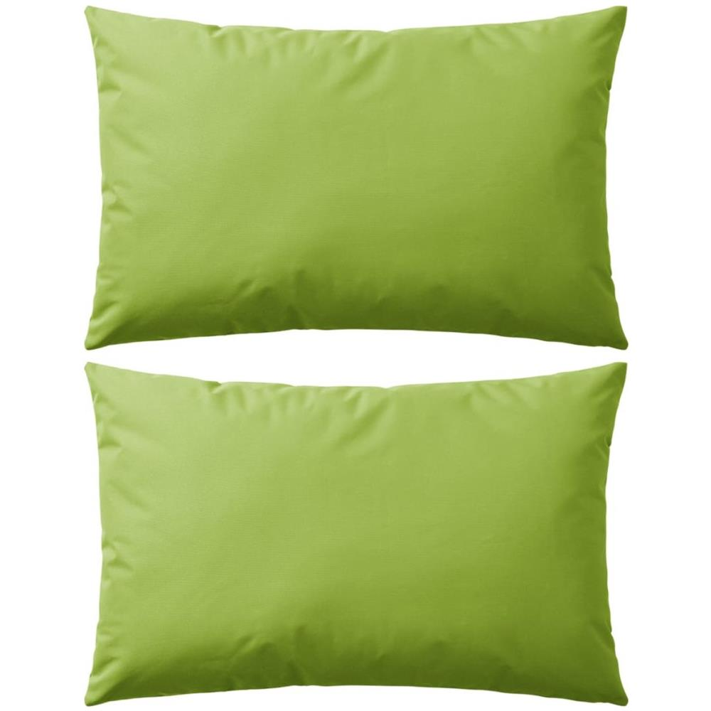 Cuscini Da Esterno Impermeabili vidaxl cuscini da esterno 2 pz 60x40 cm verde mela