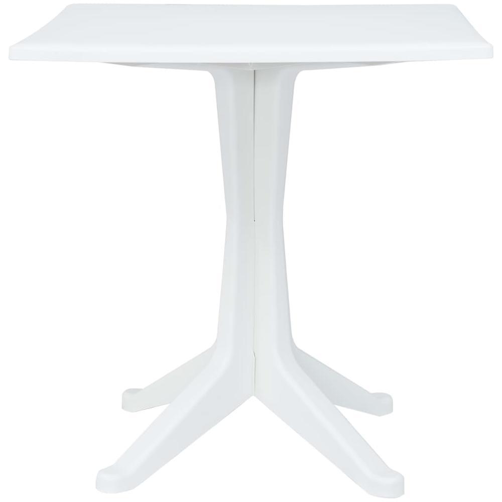 Tavolo Giardino Plastica Bianco.Vidaxl Tavolo Da Giardino Bianco 70x70x71 7 Cm In Plastica Eprice
