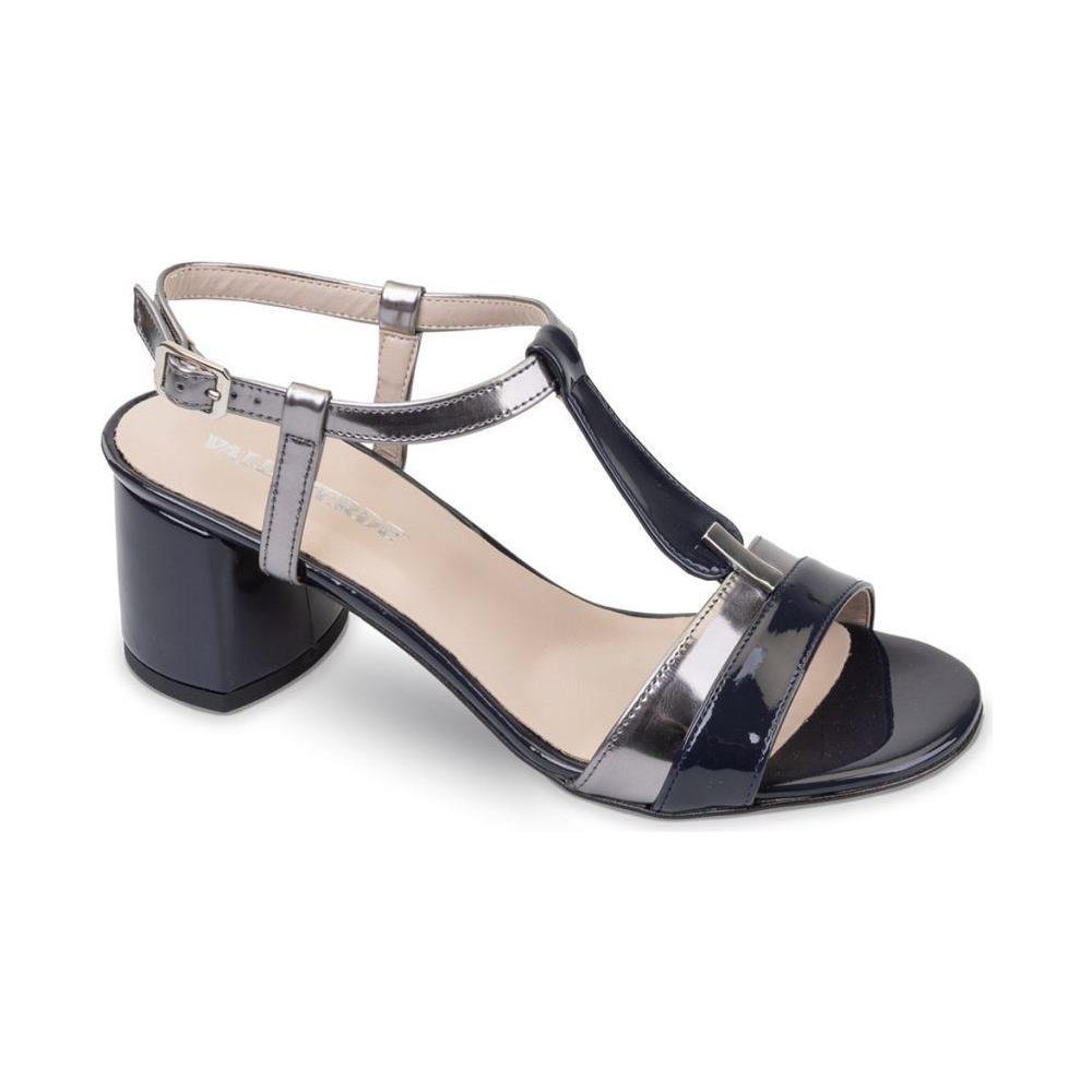 f3d4f9d9cfe08f VALLEVERDE - 45331 Sandali Scarpe Tacco Elegante Pelle Donna Blu Blu 41 -  ePRICE