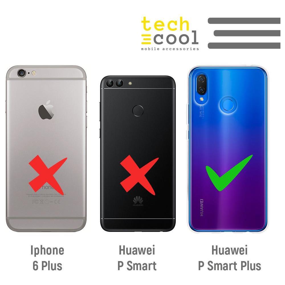 TECHCOOL Custodia Per Huawei P Smart Plus L Cover Silicone Disegno Frase