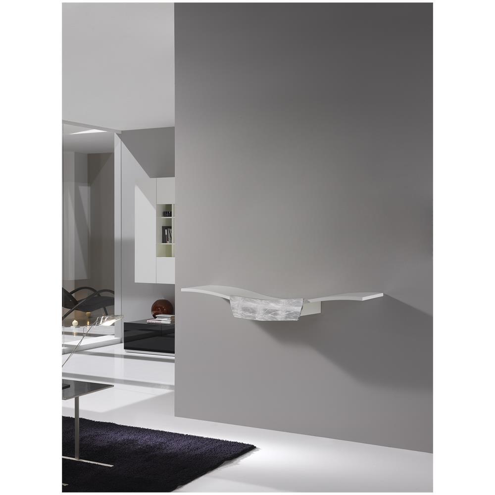 finelli - Consolle In Legno 130x37,5x21cm Finelli Vela Bianca Opaca ...
