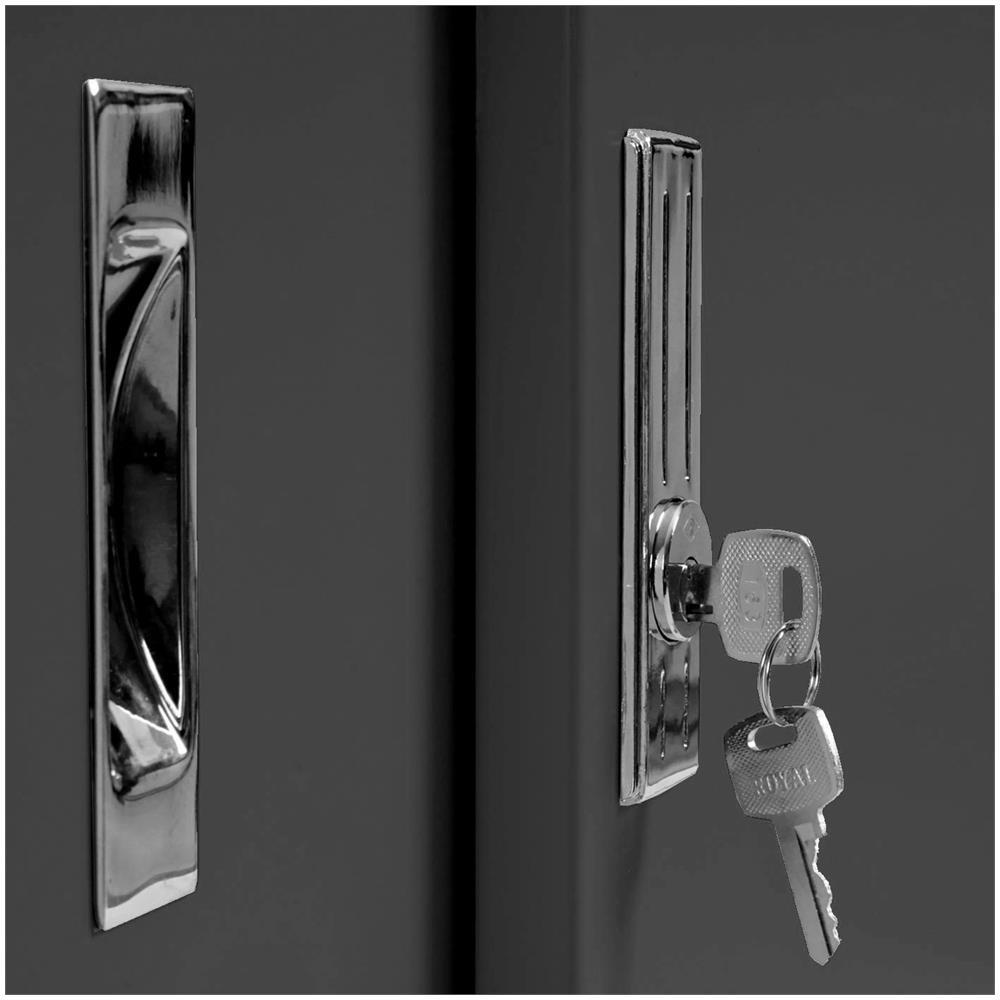 Valberg Armadietto da archivio faldoni 2 Ante 1 ripiano Acciaio 46x91x84cm Antracite