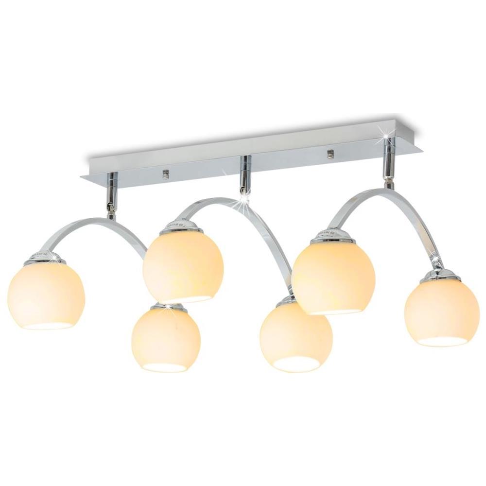 Lampadario Con Strisce Led vidaxl lampadario da soffitto con 6 lampadine a led g9 240 w