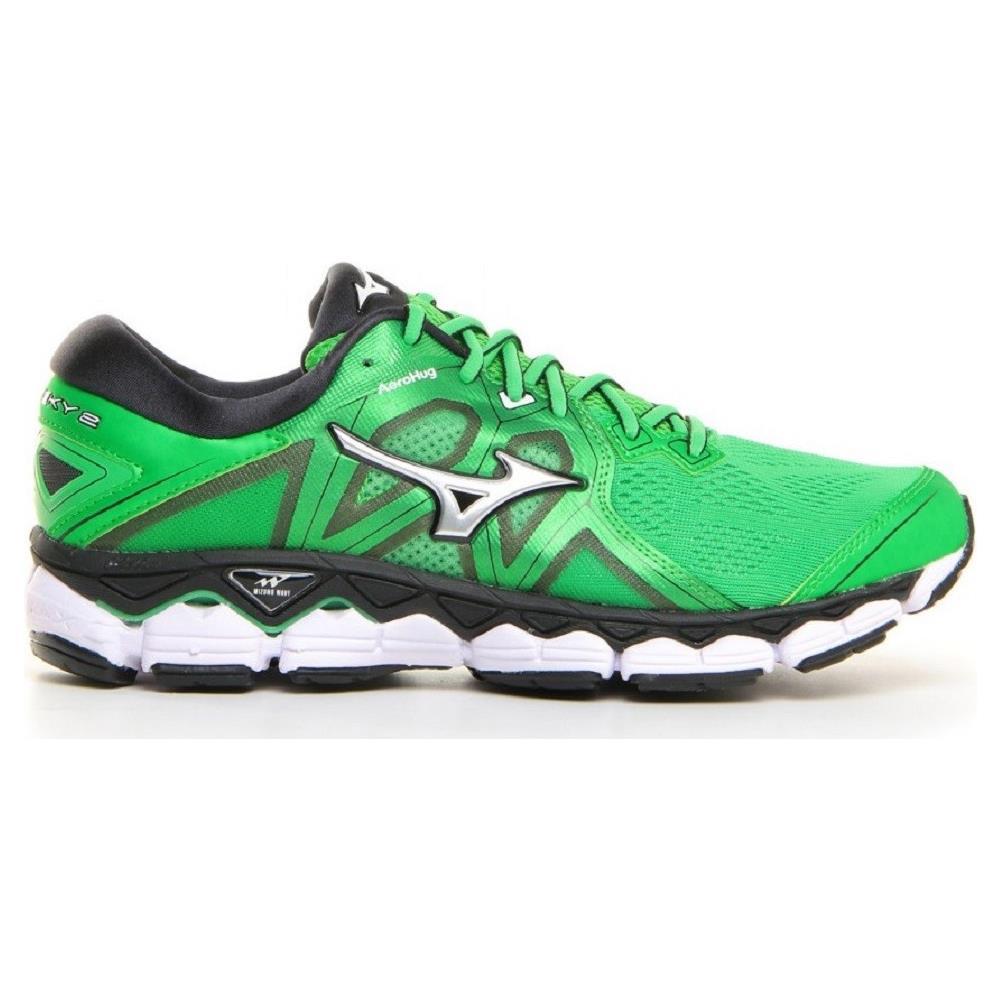 6ca2e287451862 MIZUNO - Scarpe Uomo Running Wave Sky 2 A3 Taglia 41 - Colore: Verde ...