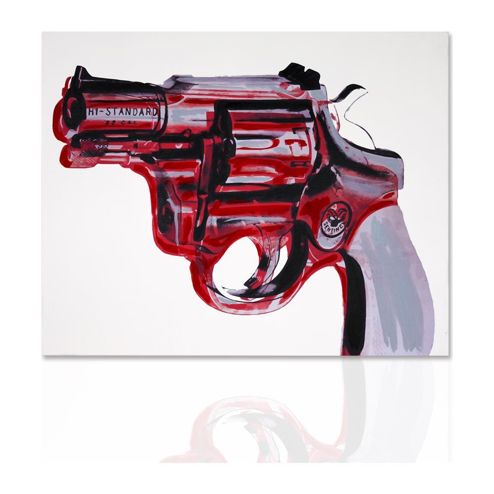 Declea - Quadro Moderno Magnum Revolver Pronto Da Appendere Pittura ...