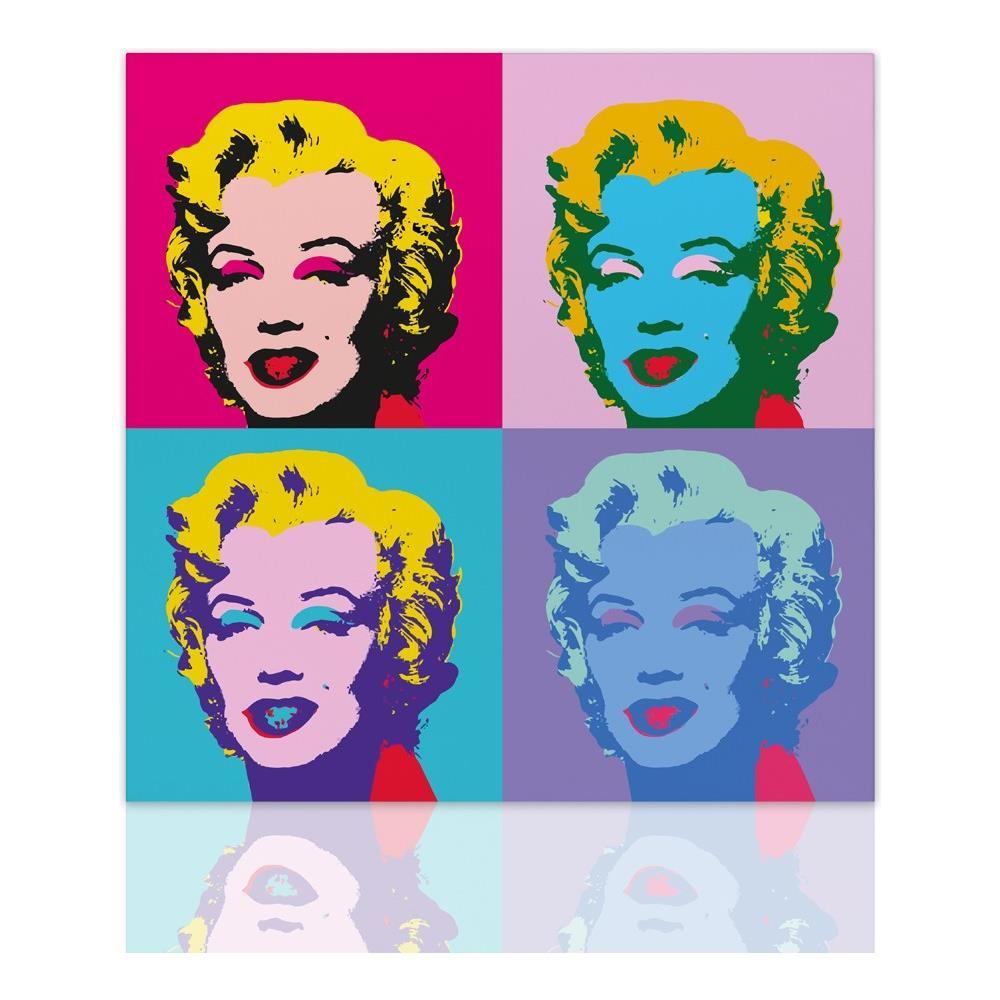 Declea - Quadro Marilyn Monroe Pop Art Quadro Moderno Su Tela Arte ...