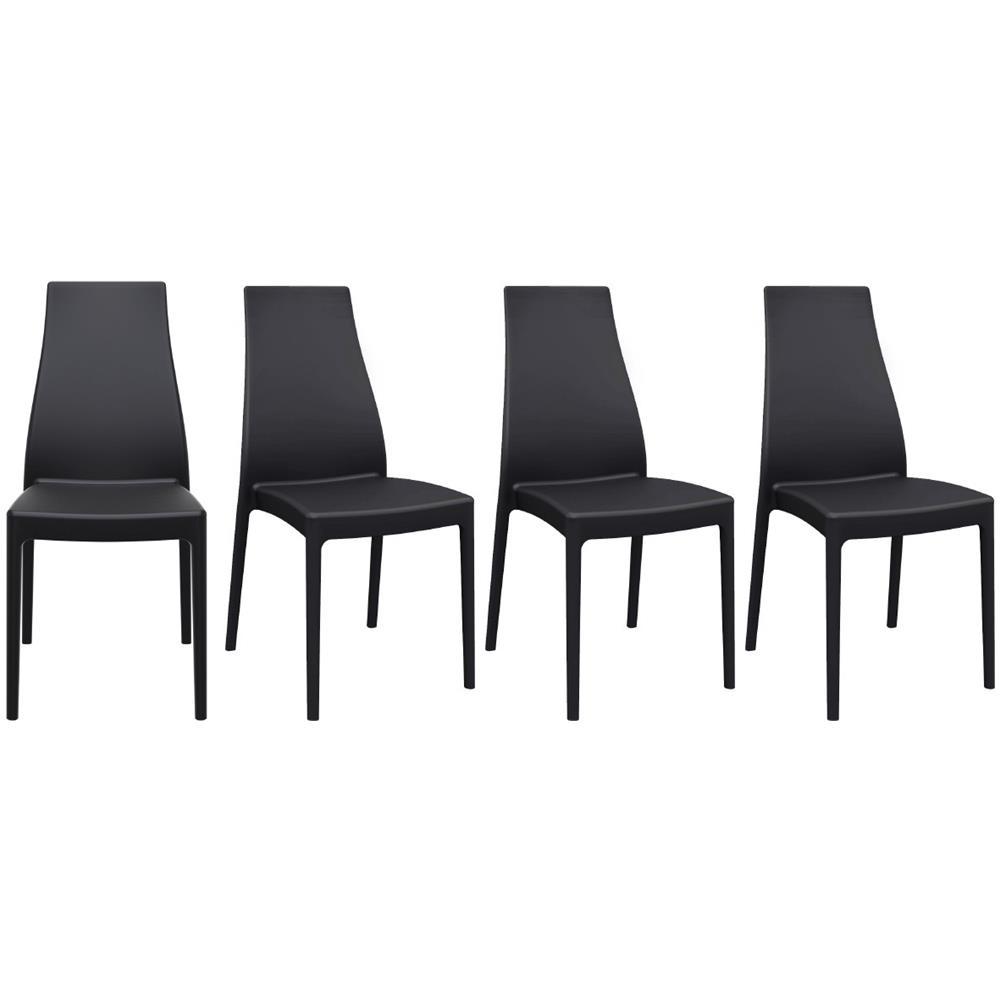 miliboo Sedie Di Design Impilabili Da Interno esterno (set Di 4) Condor