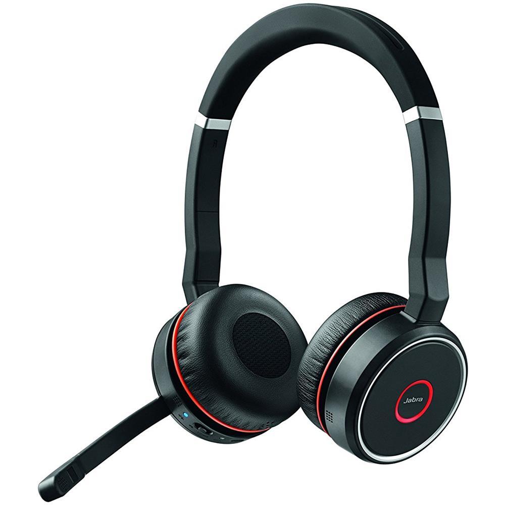 JABRA - Cuffie Wireless Evolve 75 UC Stereo Bluetooth Colore Nero e Rosso -  ePRICE d56190300768