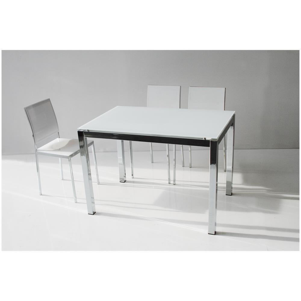 La Seggiola - Tavolo Majestic Fixed 130x80-cristallo Extra White ...