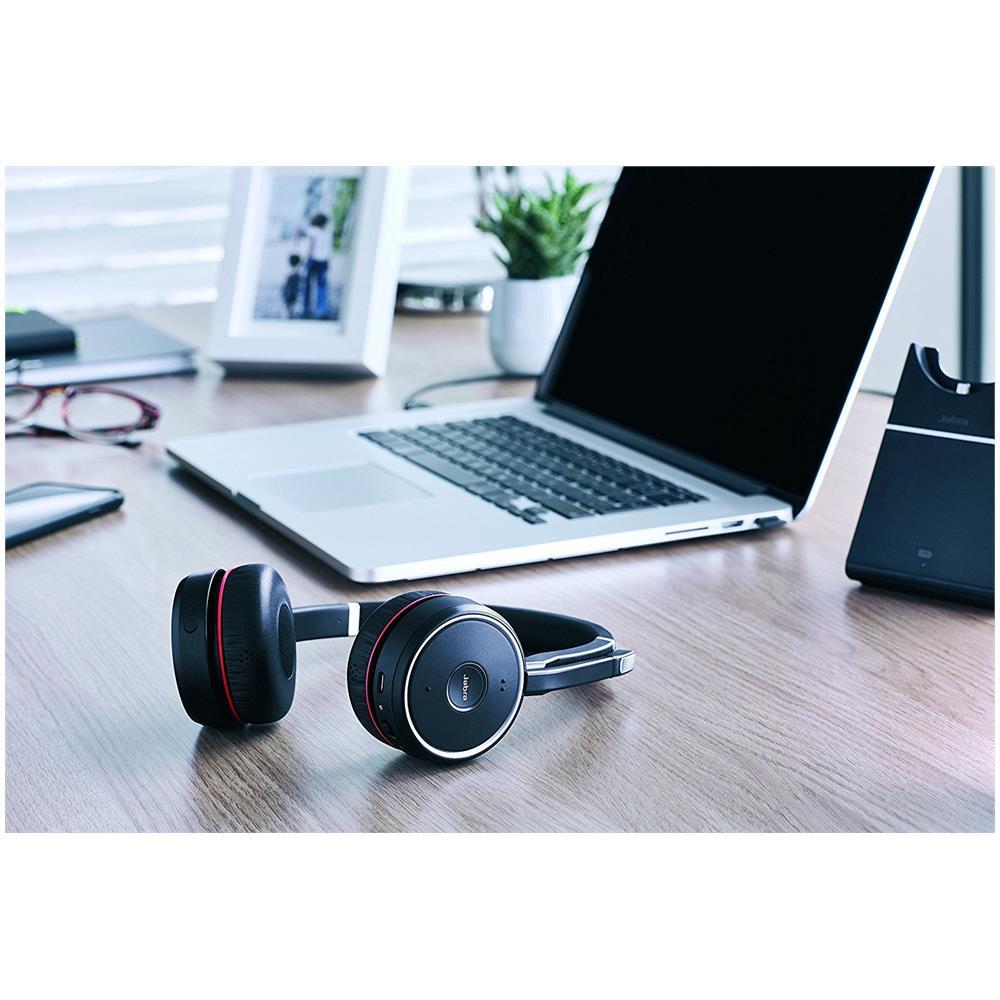 JABRA - Cuffie Wireless Evolve 75 UC Stereo Bluetooth Colore Nero e ... a8f858150685