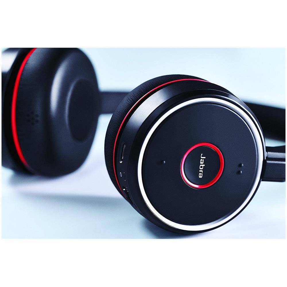 Tutte le immagini. JABRA Cuffie Wireless Evolve 75 UC Stereo Bluetooth  Colore Nero e Rosso ddd633ce0ed9