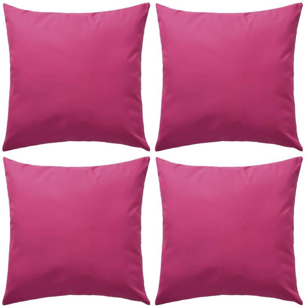 Cuscini Da Esterno Impermeabili vidaxl cuscini da esterno 4 pz 45x45 cm rosa